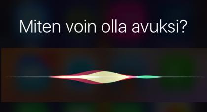 Siri oppii suomea iOS 9.3:ssa.