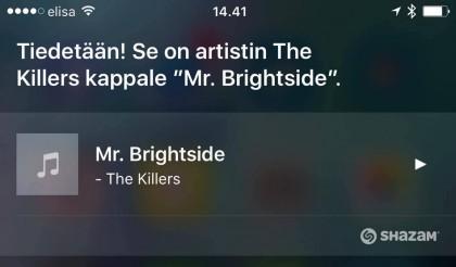 Siriltä voi kysyä suomeksikin, mikä kappale soi