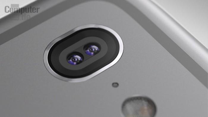 Computer Bildin hahmotelma mahdollisesta iPhonen kaksoiskamerasta.