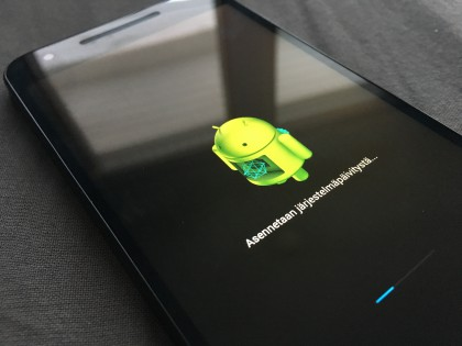 Android paivitys