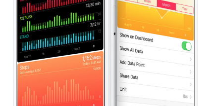 Applen Terveys-sovellus iPhonessa.