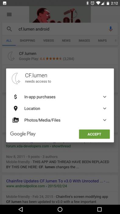 Google Android sovellus asennus