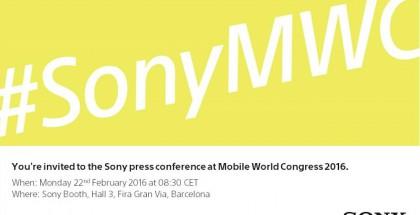 Sonyn kutsu tilaisuuteen Mobile World Congressissa 2016
