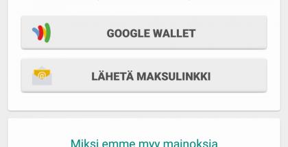 WhatsApp-maksuvaihtoehdot