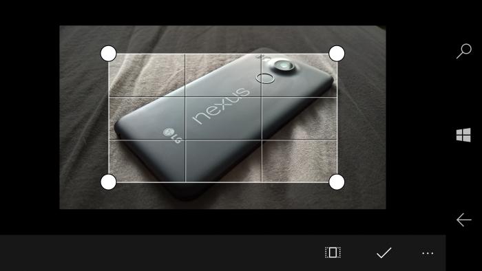 Kuvien rajaaminen Windows Mobile