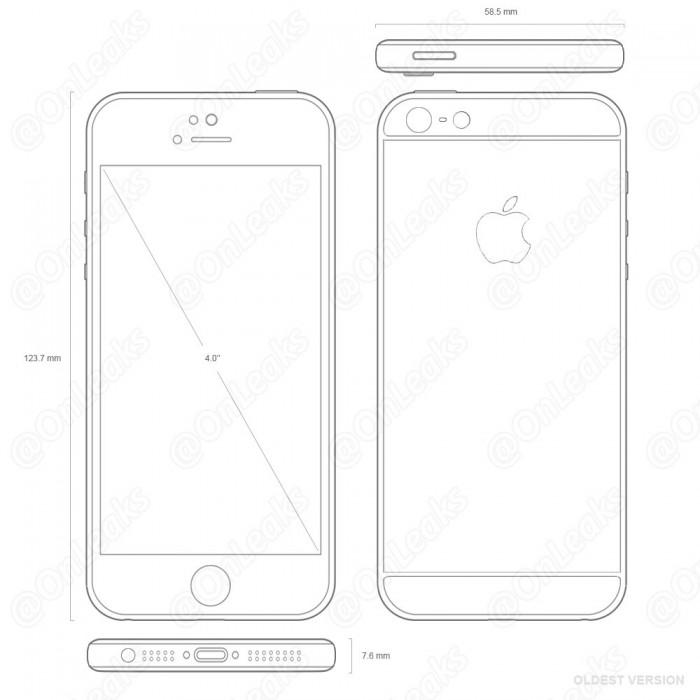 Steve Hemmerstofferin kuvissa iPhone 5se muistuttaa iPhone 6- ja 6s-malleja.