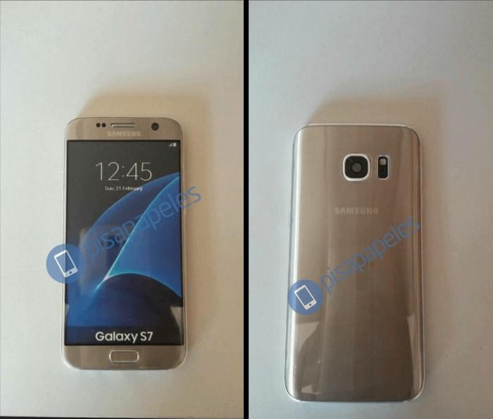 Galaxy S7:n dummy-versio kultaisena
