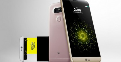 LG G5, jonka alaosa oli vaihdettavissa.