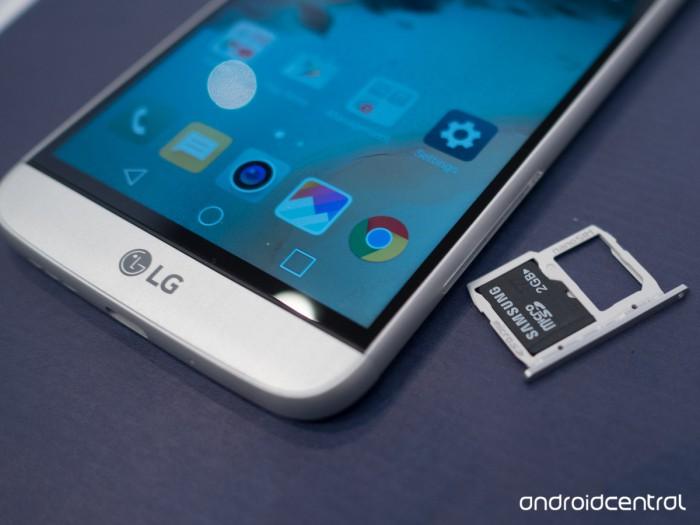 LG G5:n microSD-muistikortin ominaisuuksia on rajattu Kuva: AndroidCentral.