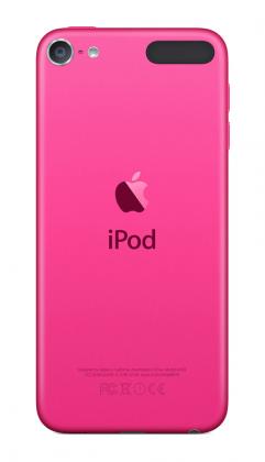 iPod touchin kirkas pinkki eroaa selkeästi iPhone 6s:n ruusukullasta.