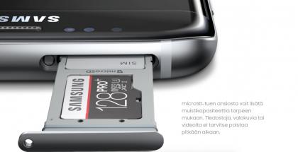 Samsung Galaxy S7 edge muistikortti.