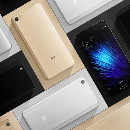 Xiaomi Mi 5 -älypuhelin on yhtiön perinteisempää tuotemallistoa.