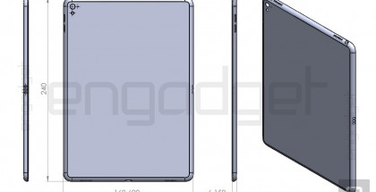 Väitetty uusi 9,7 tuuman iPad Engadgetin aiemmin vuotamassa mallikuvassa.