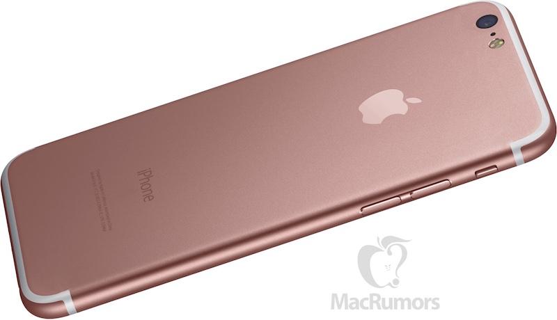 MacRumorsin luonnos iPhone 7:stä ilman takaosan poikki meneviä antenniraitoja.