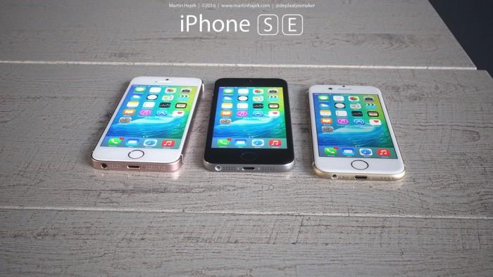 Martin Hajek iPhone SE konsepti renderöinti