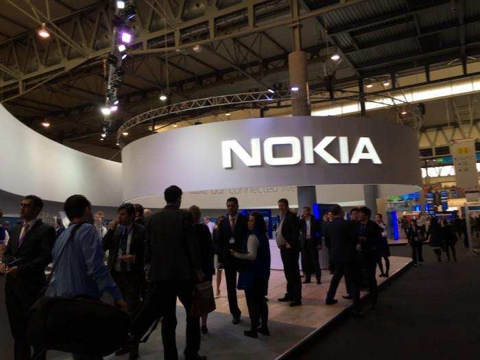Nokian osasto MWC:ssä on jälleen kookas.