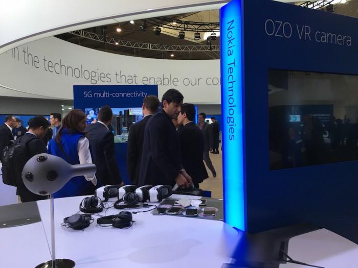 Myös OZO-kamera on tietenkin esillä Nokian osastolla Technologies-yksikön taidonnäytteenä.