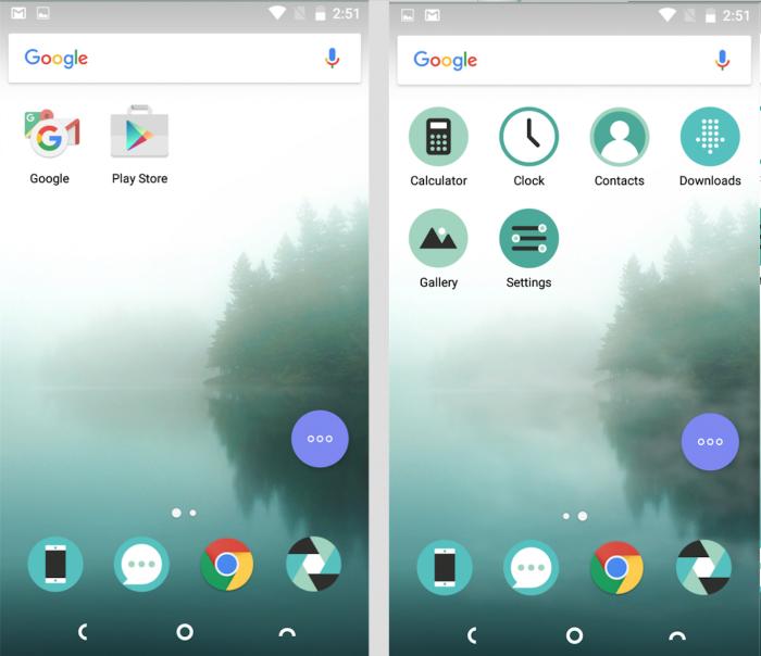 Uutena Robin-puhelimessa ei ylimääräisiä sovelluksia ole - kuvassa näkyvät kaikki. Googlen sovellusten ohella mukana ovat vain välttämättömimmät Nextbitiltä.