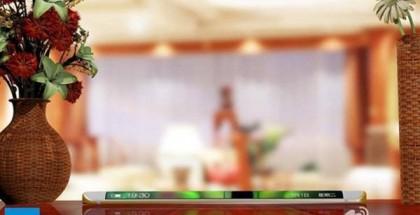 Vivo XPlay5 kiinalaisessa Weibo-palvelussa julkaistussa kuvassa kaartuvan näyttönsä kanssa.
