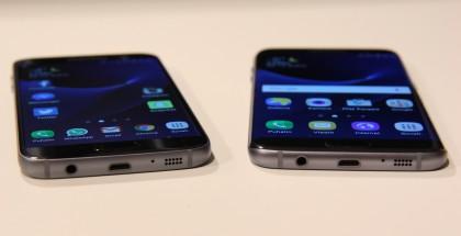 Nykyiset Samsung Galaxy S7 ja S7 edge.