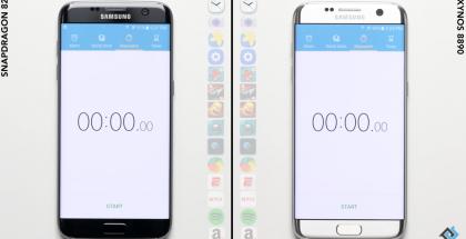 Nopeusvertailussa Galaxy S7:n suorittimet.