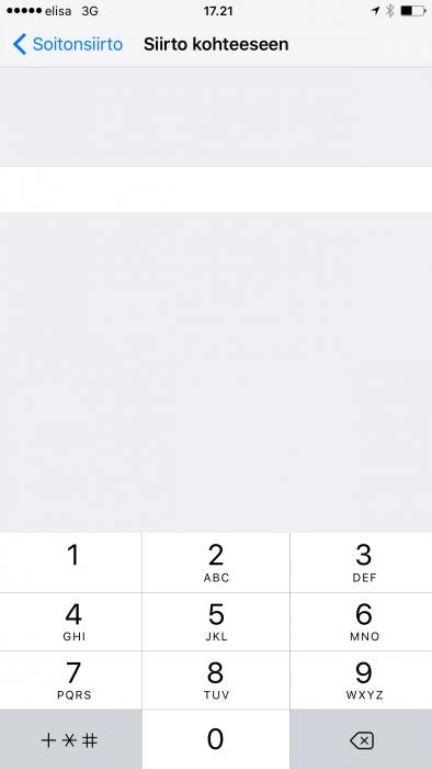 Soitonsiirto iPhone.