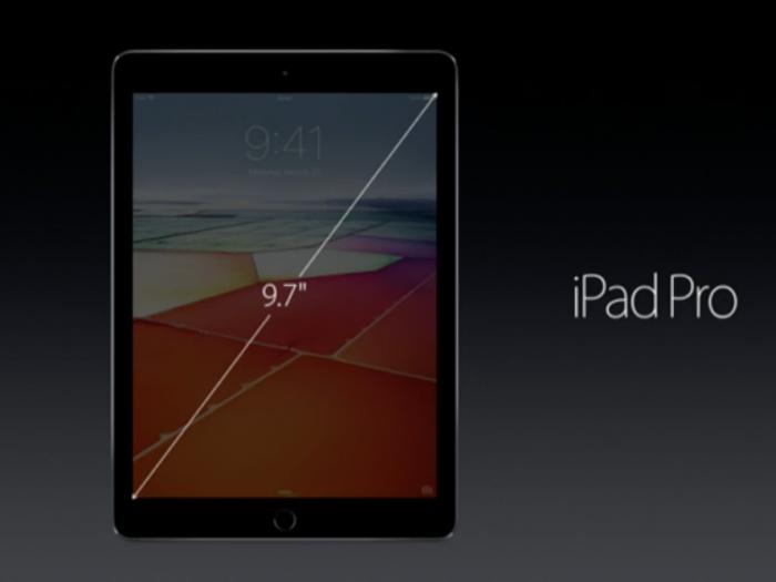 9,7 tuuman iPad Pro.
