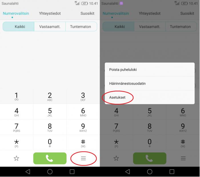 Soitonsiirto Android