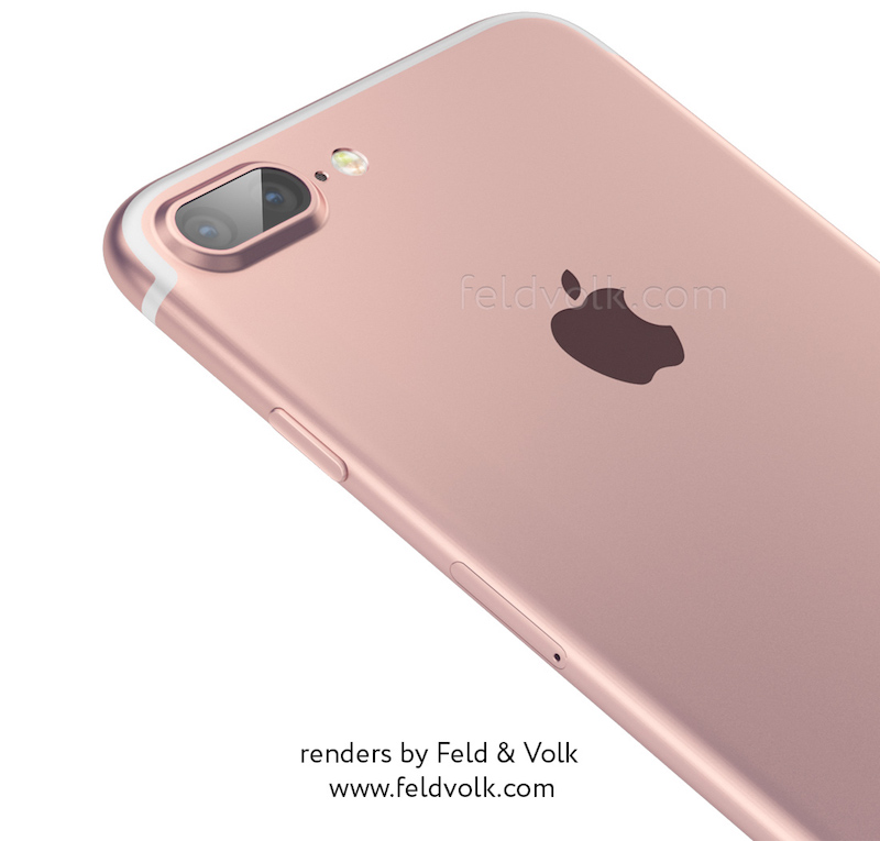 Feld & Volkin mallikuva iPhone 7:n mahdollisesta ulkonäöstä.