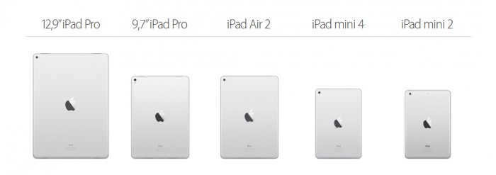 iPad-valikoima keväälle 2016.