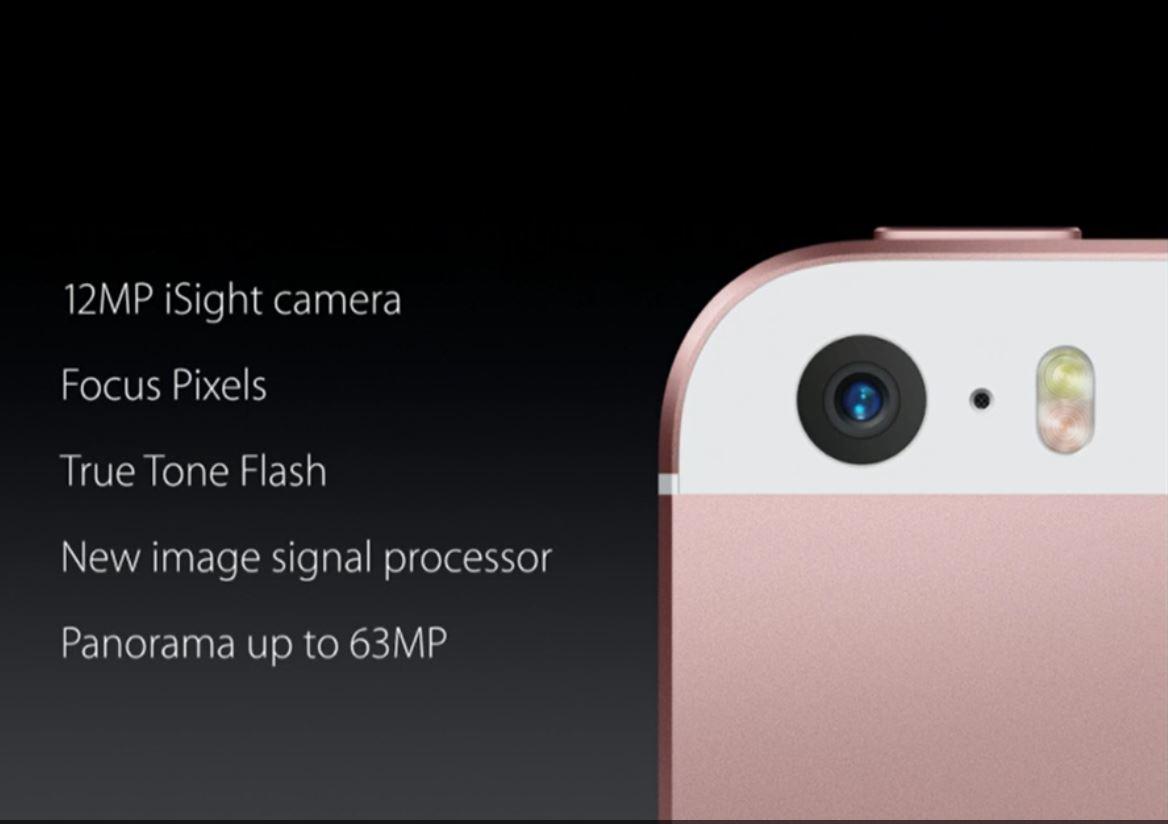 Kamera on yksi iPhone SE:n kohokohtia.