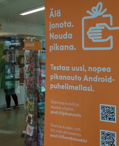 Posti ottaa käyttöön mobiililaitteen paikannukseen perustuvan pikanoutopalvelun.