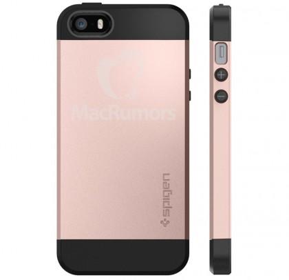 Väitetty iPhone SE:n suojakotelo Spigeniltä.