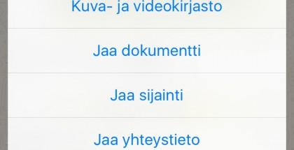 WhatsAppissa voi nyt jakaa myös dokumentteja, tiedostoja, aluksi tosin vain PDF:iä.