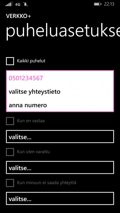 Soitonsiirto Windows Phone 8.1