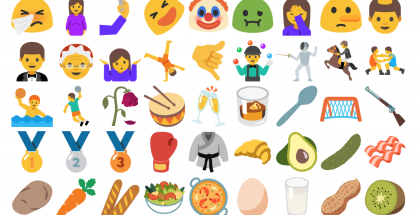 Android N:n uudet Unicode 9:n mukaiset emojit.