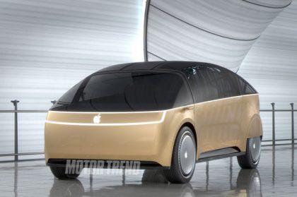 Motor Trendin pari vuotta sitten kuvittelema Apple-auto.