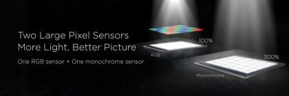 Näin Huawei esitteli P9:n kaksoiskameraratkaisua.