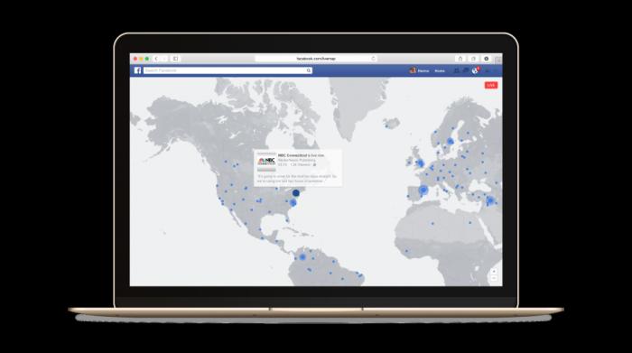 Live-lähetykset kartalla.