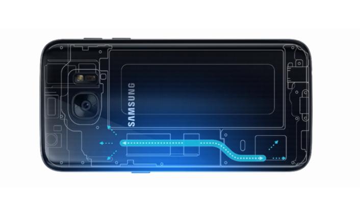 Samsung Galaxy S7 heat pipe nestejäähdytys