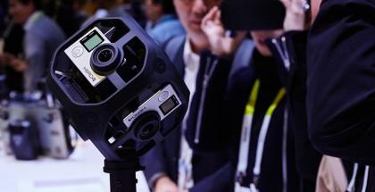 Omni-kehikkoon istuu kuusi GoPro HERO4 Black -kameraa.