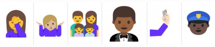Android N:n uusia emoji-kuvia.