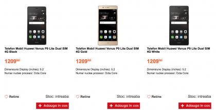 Huawei P9 Lite Cel.ro-verkkokaupassa.