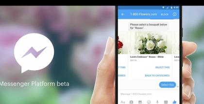 Kukkia voi tilata keskustelemalla Messengerissä botin kanssa.