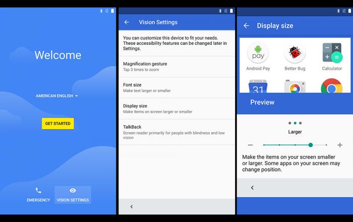 Ensiasetuksia Android N:llä.