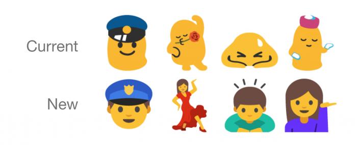 Android N muokkaa toiminnallisempia emoji-kuvia ihmismäisemmiksi.