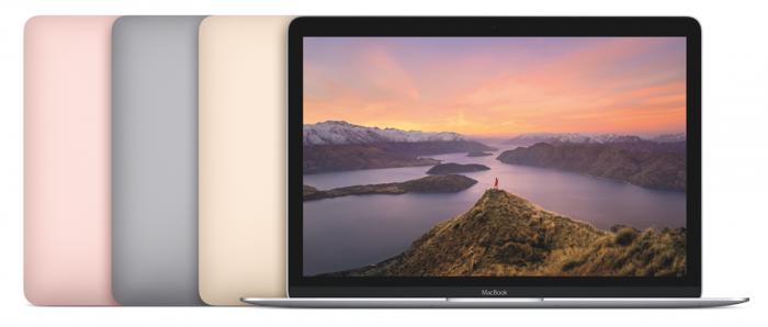 Applen MacBookin kaikki neljä eri värivaihtoehtoa.
