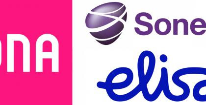 DNA Elisa Sonera logot