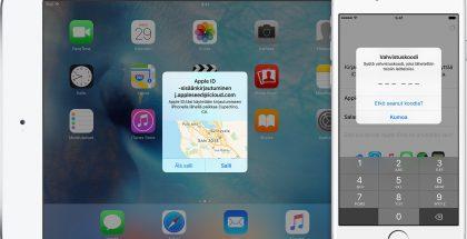 Apple ID iOS 9 kaksiosainen todennus