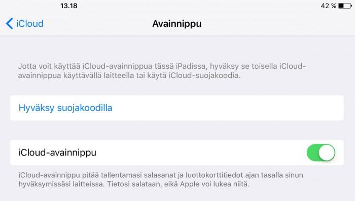 Ohjeita iCloud - avainnipun käyttön - Apple-tuki - Apple Support